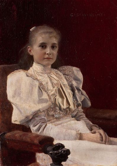 Klimt, Gustav: Seated Young Girl. Fine Art Print/Poster. Sizes: A4/A3/A2/A1 (002231)